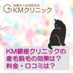 【KM新宿クリニック・KM銀座クリニック】の顔脱毛料金、口コミ!
